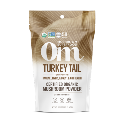OM  Organic Mushroom Nutrition Supplement Powder - Turkey Tail Perspective: front