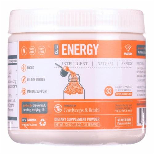 Matrix NRG Intelligent Energy Dietary Supplement Powder Citrus Orange Perspective: front