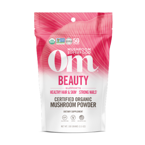 OM  Organic Mushroom Nutrition Supplement Powder - Beauty Perspective: front