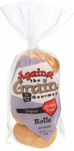 Against The Grain Gourmet Original Frozen Gluten Free Rolls Perspective: front