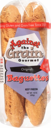 Against The Grain Gourmet Original Frozen Gluten Free Baguettes Perspective: front
