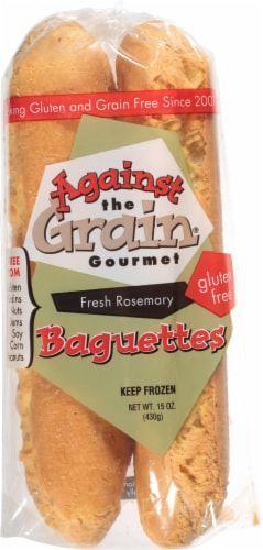 Against The Grain Gourmet Fresh Rosemary Frozen Gluten Free Baguettes Perspective: front