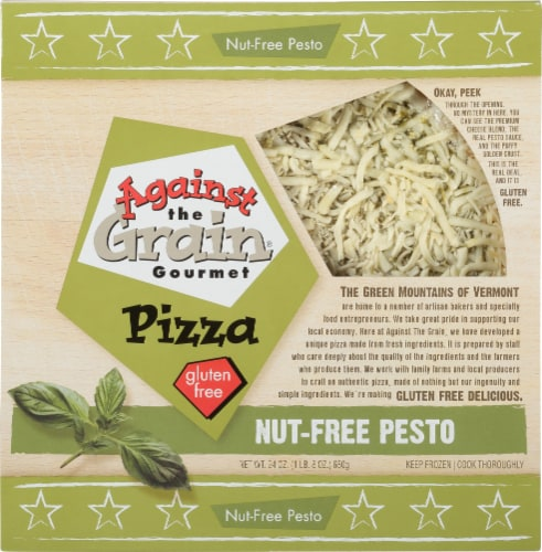 Against the Grain Gourmet Gluten Free Pesto Pizza Perspective: front