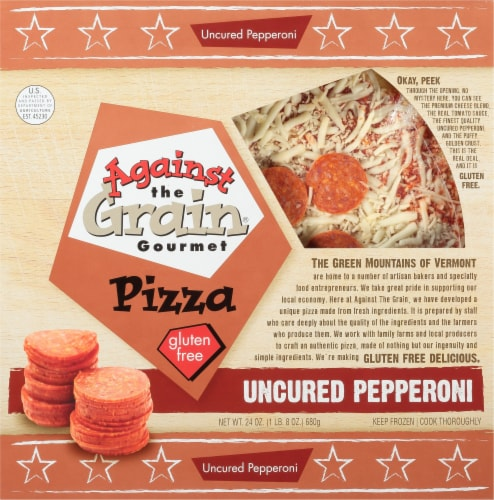 Against the Grain Gourmet Gluten Free Pepperoni Pizza Perspective: front