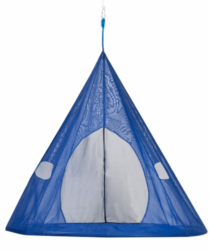 Flowerhouse Tear Drop Hanging Chair - Blue Perspective: front