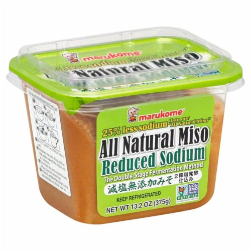 Marukome Reduced Sodium All Natural Miso Perspective: front