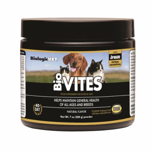 BiologicVET BioVites Natural Flavor Dog & Cat Food Supplement Perspective: front