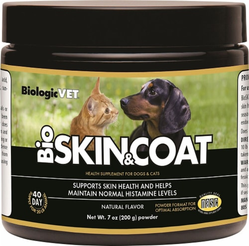 BiologicVET BioSkin & Coat Natural Flavored Health Supplement for Dogs & Cats Perspective: front