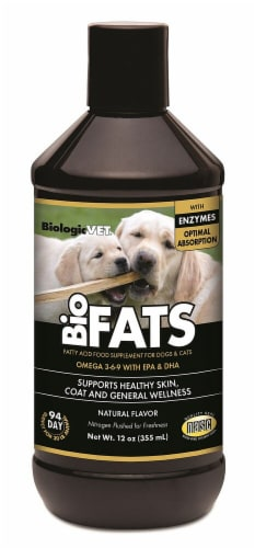 BiologicVET BioFats Natural Flavored Fatty Acid Food Supplement for Dogs & Cats Perspective: front