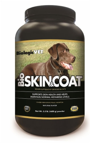 BiologicVET BioSkin & Coat Natural Flavor Dog and Cat Health Supplement Powder Perspective: front
