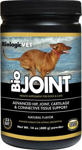 BiologicVET BioJOINT Natural Flavored Advanced Mobility Support Health Supplement For Dogs & Cats Perspective: front