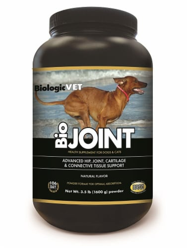 BiologicVET BioJoint Natural Flavored Health Supplement for Dogs & Cats Perspective: front