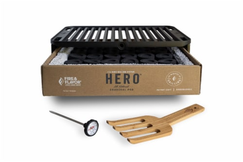 Fire & Flavor HERO Portable Charcoal Grill Perspective: front