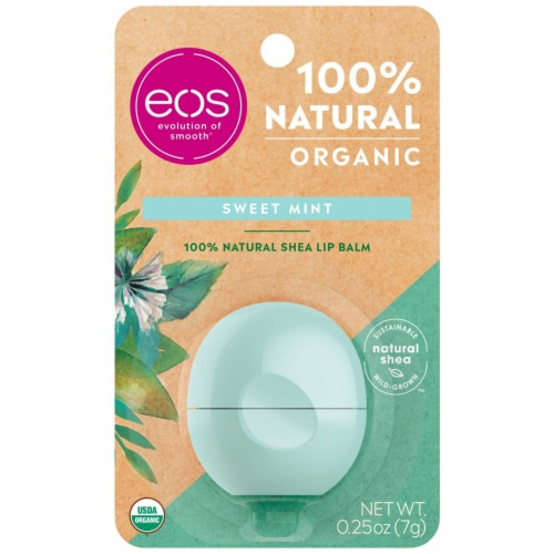 EOS Sweet Mint Lip Balm Sphere Perspective: front