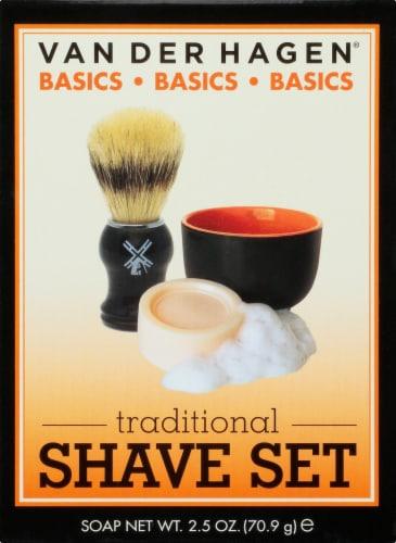 Van Der Hagen Traditional Shave Set Perspective: front