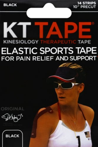 KT Tape For Pain Relief & Support Elastic Sports Tape - Black Perspective: front