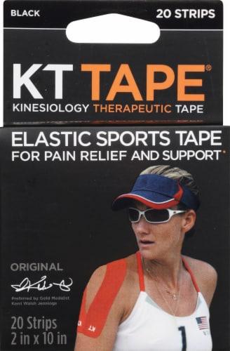 KT Tape Original Elastic Sports Tape - Black Perspective: front