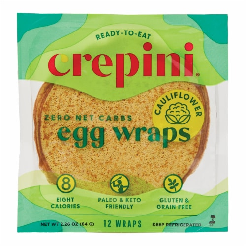 Crepini Petite Egg Wraps with Cauliflower Perspective: front