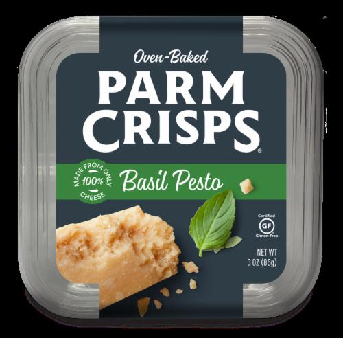 ParmCrisps Basil Pesto Parmesan Crisps Perspective: front