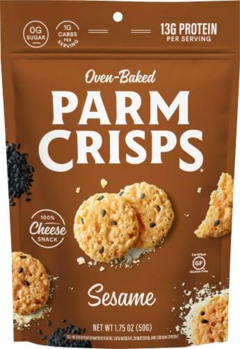 ParmCrisps Black Sesame Parmesan Crisps Snacks Perspective: front
