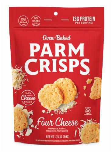 ParmCrisps Four Cheese Parmesan Keto Crisps Snacks Perspective: front