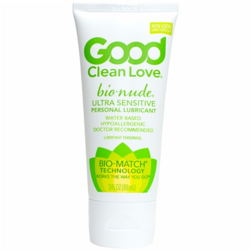 Good Clean Love BioNude Ultra Sensitive Natural Moisturizing Personal Lubricant Perspective: front