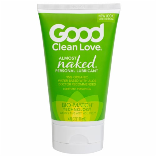 Good Clean Love Almost Naked 95% Organic Personal Lubricant Perspective: front