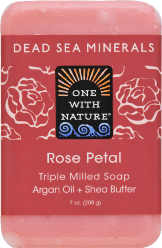 One with Nature Rose Petal Soap Perspective: front