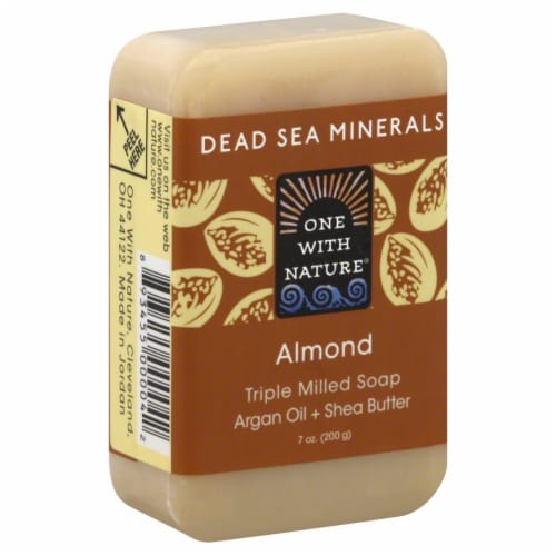 One With Nature Dead Sea Minerals Almond Soap Perspective: front