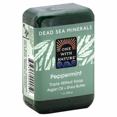 One With Nature Peppermint Triple Milled Soap Perspective: front