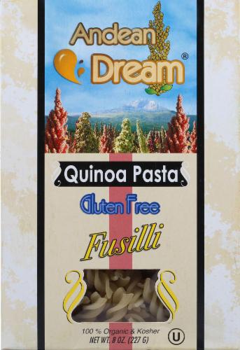 Andean Dream Organic Fusilli Quinoa Pasta Perspective: front
