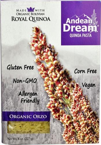 Andean Dream Organic Orzo Quinoa Pasta Perspective: front