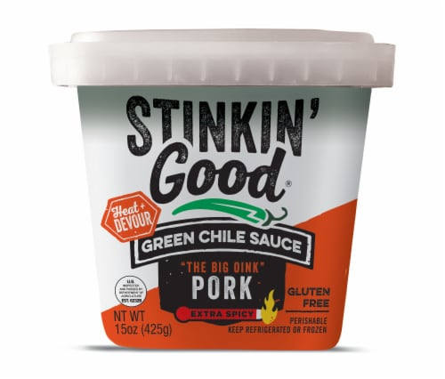Schlereth's Stinkin Good Green Chili Sauce Perspective: front