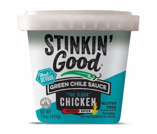 Schlereth's Stinkin' Good Green Chile Sauce Perspective: front