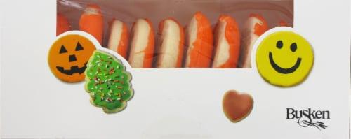 Busken's Seasonal Iced Cookies Perspective: front