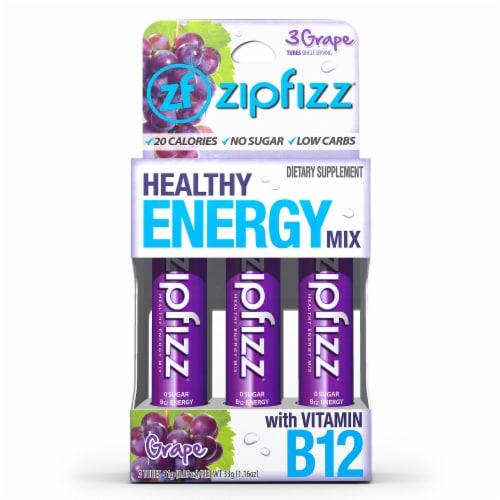 Zipfizz Grape Healthy Energy Drink Mix Perspective: front