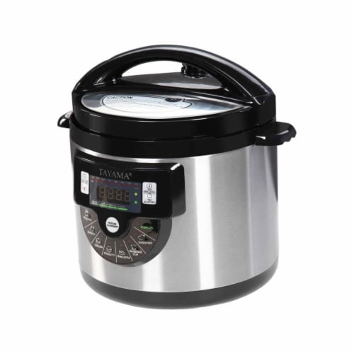 Tayama TMC-60SS 6 qt Electric Pressure Cooker with Stainless Steel Pot Perspective: front