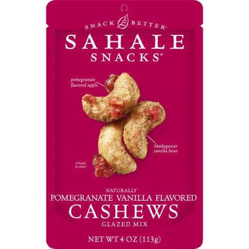 Sahale Snacks® Gluten Free Pomegranate Vanilla Flavored Cashews Glazed Mix Perspective: front