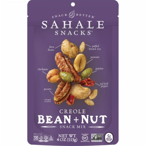 Sahale Snacks Creole Bean and Nut Snack Mix Perspective: front
