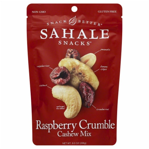 Sahale Raspberry Crumble Cashew Trail Mix Perspective: front