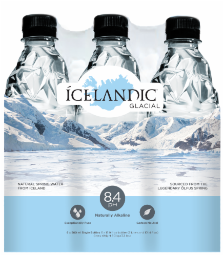 Icelandic Glacial H2O Natural Spring Water Perspective: front