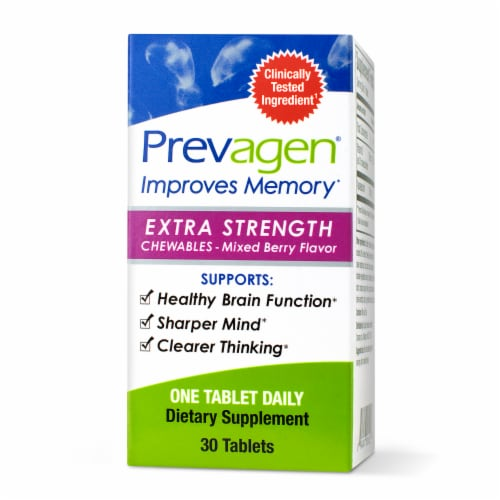 Prevagen Extra Strength Mixed Berry Chewable Tablets Perspective: front
