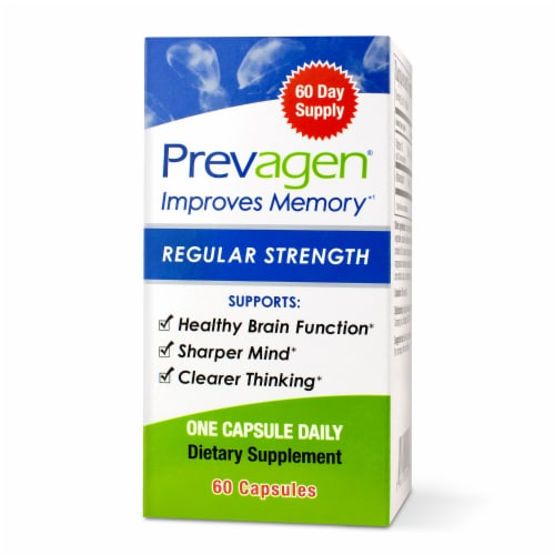 Prevagen Regular Strength Memory Dietary Supplement Capsules 10mg Perspective: front