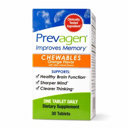 Prevagen® Orange Chewable Tablets Perspective: front