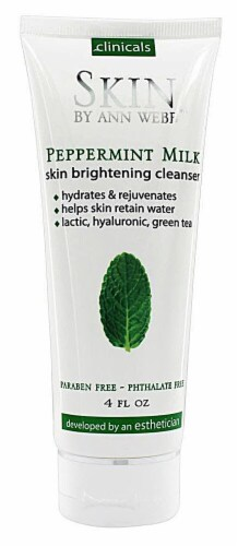 Skin by Ann Webb  Skin Brightening Cleanser Peppermint Milk Perspective: front