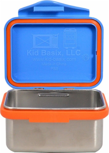 New Wave Enviro SafeSnacker™ Lunch Box - Blue Perspective: front