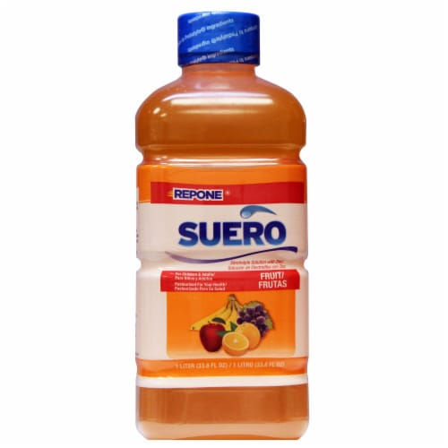 Suero Fruit Pediatric Drink Perspective: front