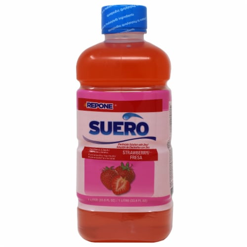 Suero Strawberry Electrolyte Solution Perspective: front