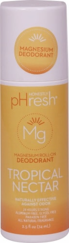 Honestly pHresh Tropical Nectar Magnesium Roll On Deodorant Perspective: front