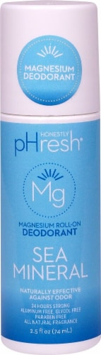 Honestly pHresh Sea Mineral Magnesium Roll On Deodorant Perspective: front
